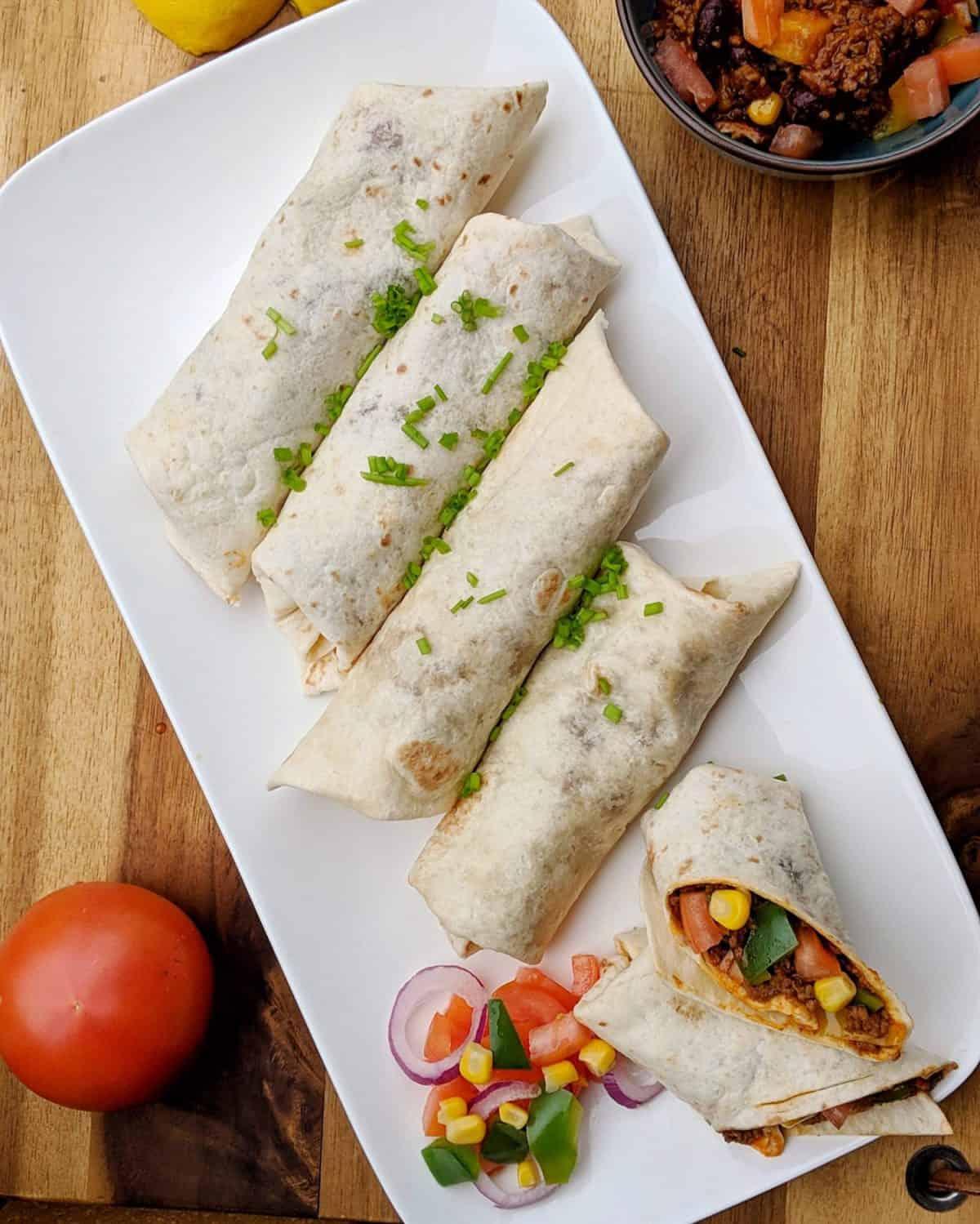 Burritos mit Chili con Carne