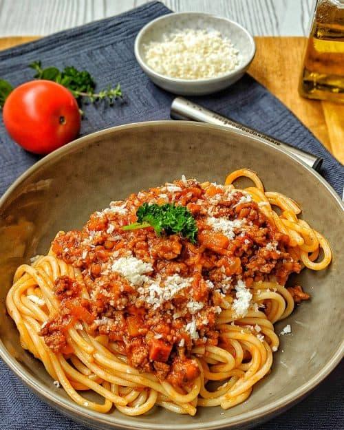 Bolognese mit Chorizo und Linsen
