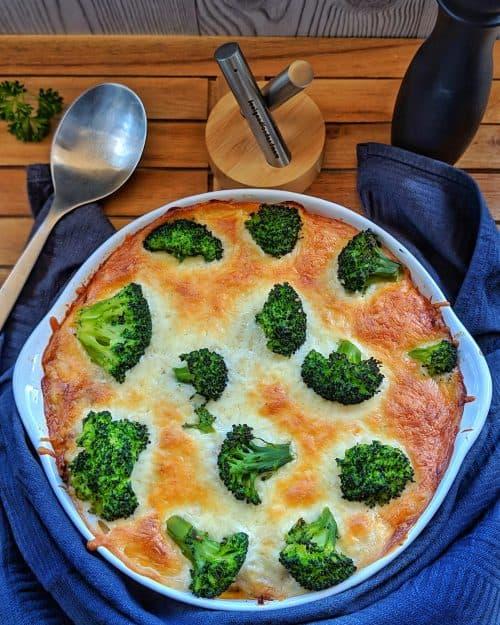 Brokkoli-Nudel-Auflauf mit Hackfleisch