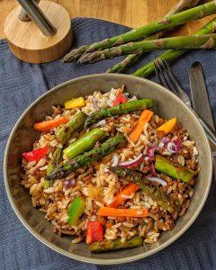 Schnelle Hackfleisch-Reis-Pfanne