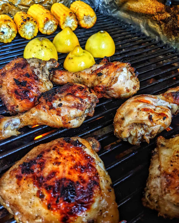 Griechisches Hähnchen auf dem Grill