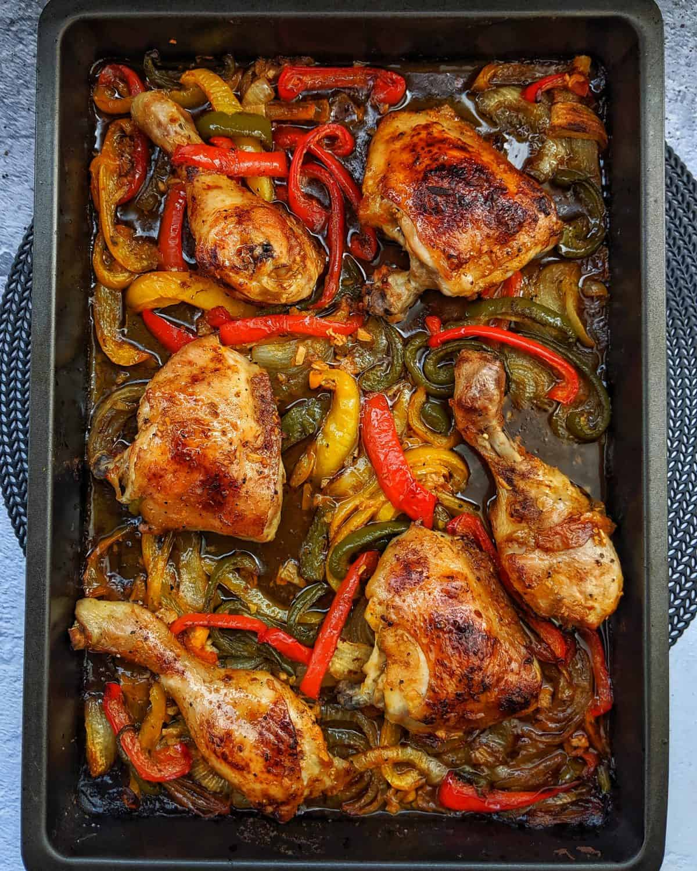 Honey-Garlic Chicken – Hähnchen aus dem Ofen