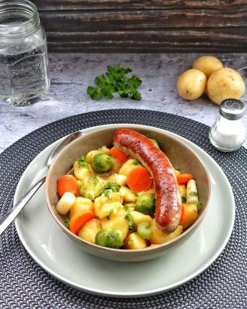 Kartoffelgemüse mit Bratwurst – Einfach köstlich