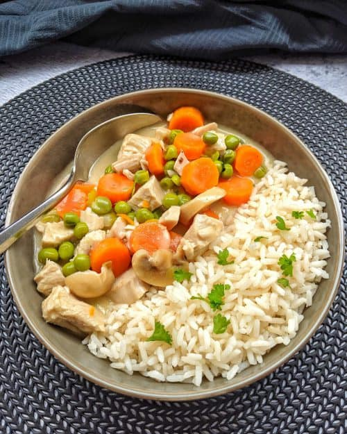 Putenfrikassee mit Reis – Einfach selber machen