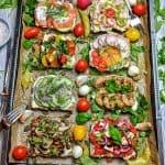 Belegte Brote - Ein Blech mit 8 verschiedenen belegten Broten