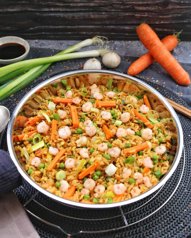 Gebratener Reis mit Shrimps – Das einfache Rezept