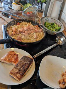 Zubereitung in der Küche