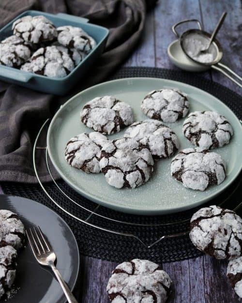 Chocolate Crinkle Cookies – Rezept