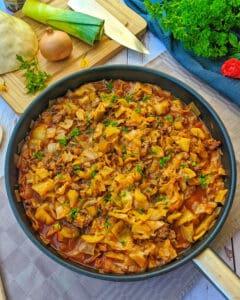 Low Carb Weißkohl-Hackfleisch-Pfanne